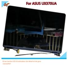 "13.3 ""display lcd de toque para asus zenbook flip s ux370u ux370uaf ux370uar tela, substituição superior azul da tela lcd"