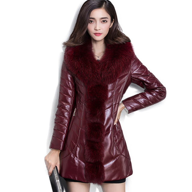 Soperwillton 2017 New Large Fur Hooded Winter Coats Women Fake Fur ...