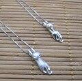 Esterlina 925 colar de prata escalada gato mate ou superfície brilhante pingente de colar de pingente de mão crafted escovado liso 3D jóias