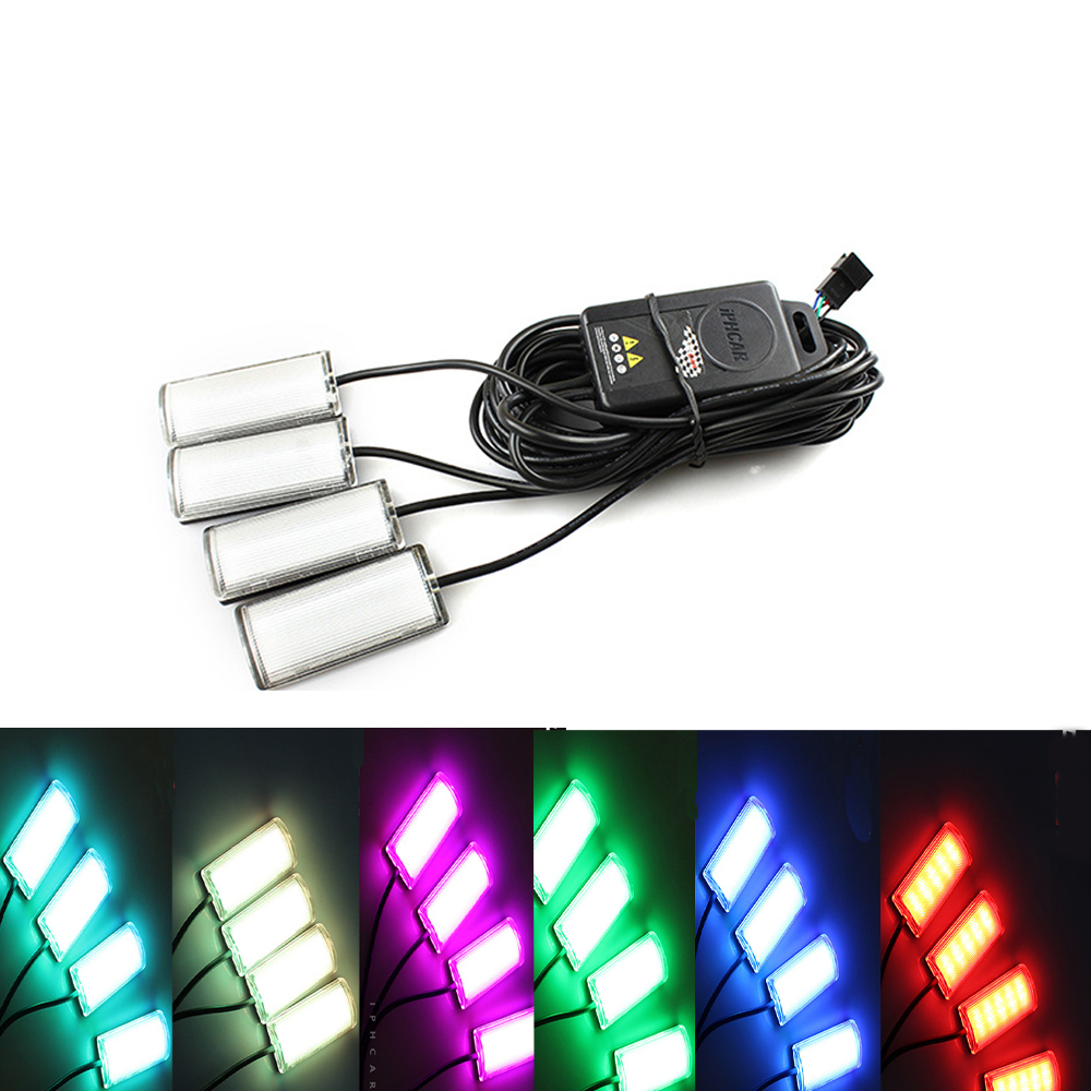 7 Color Car Atmosphere Lamps Car Styling Decorative Atmosphere Light Car Interior Lamps Led Ambient Footwell Lighting