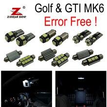 16pcs 100% canbus LED parking city bulb + Interior dome map Light Kit for VW GTI Golf6 GOLF MK6 MK 6 VI MKVI (2010-2014)