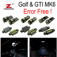 16pcs 100% canbus LED parking city bulb + Interior dome map Light Kit for VW GTI Golf6 GOLF MK6 MK 6 VI MKVI (2010 2014)