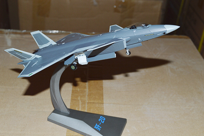 1:100 Simulation Model of J-20 Stealth Fighter Decoration Model image
