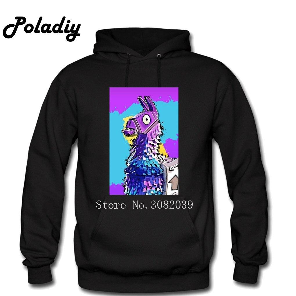 Fortnite Llama Hoodies Winter Men Sweatshirts Hooded Pullover Casual Male Women Fashion Mens Unicorn Dropshipping Hoodies