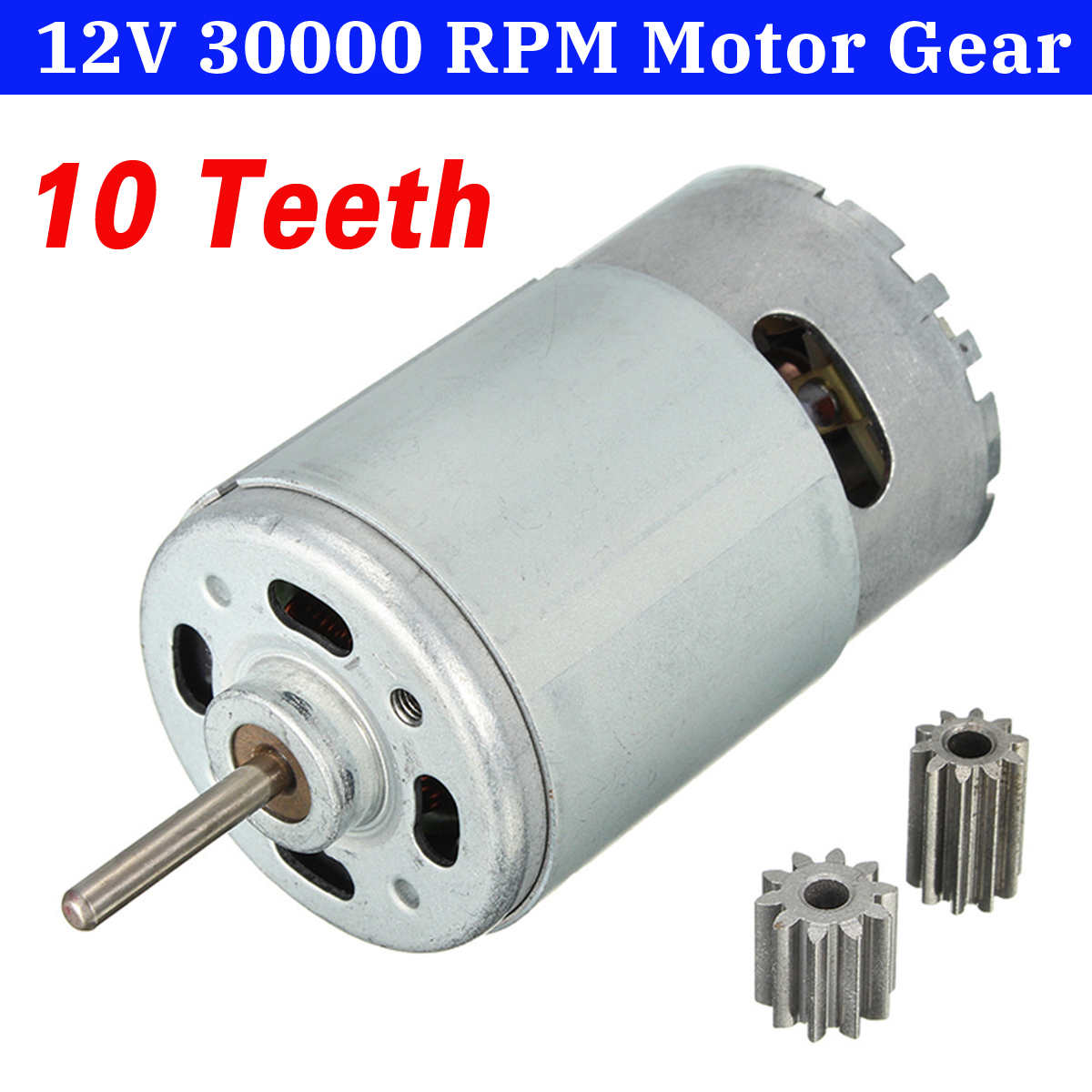 DC 12V 30000 RPM Motor Gears Rotary Speed Gear Box Motor For Kids RC Ride on Car Spare Parts 10Teeth 12 Volt applicatori di etichette manuali
