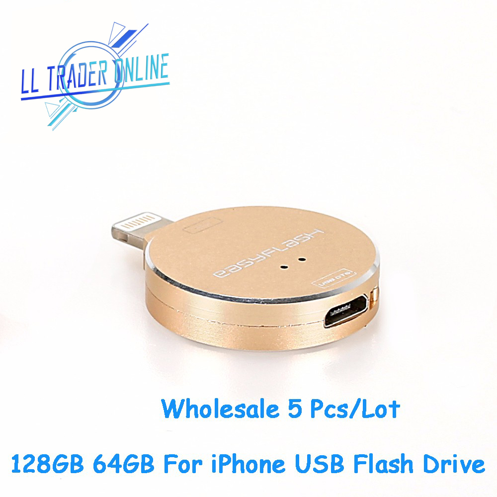 Dedicated Ll Trader 5pcs/lot 64/128gb Storage Memory Stick Mini Usb Flash Drive Key Ring For Ios Iphone 5/iphone 6/ipad /ipad/mac Pendrive