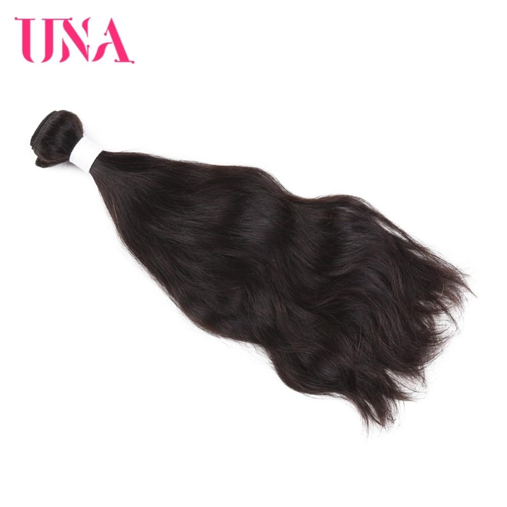 UNA Rambut Manusia Peru 1 Piece Pack Rambut Asli Peru Wave Asli - Rambut manusia (untuk hitam)
