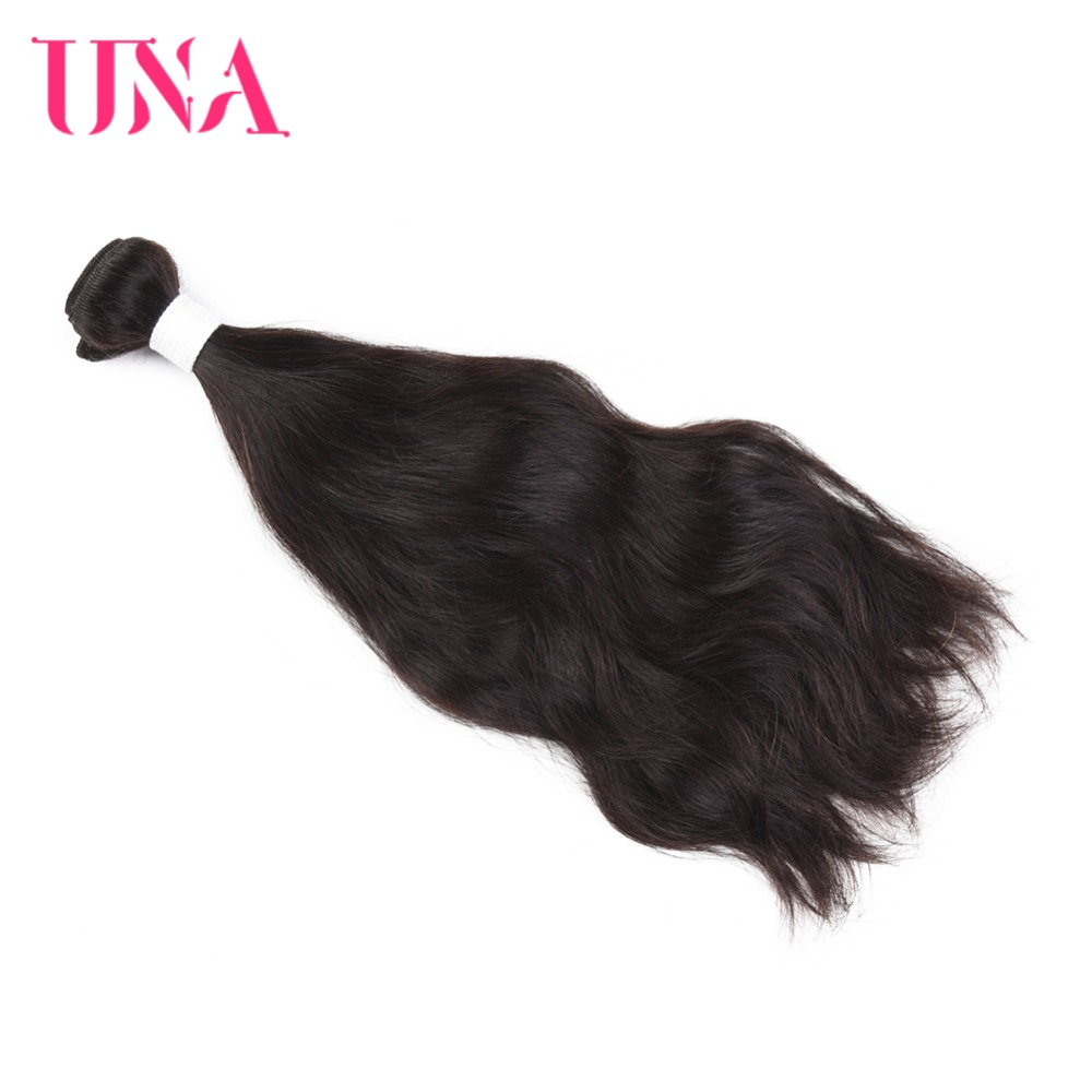 UNA 페루 인간 머리카락 1 조각 팩 자연 머리 페루 - 인간의 머리카락 (검은 색)