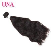 UNA Peru žmogaus plaukai 1 gabalas pakuotė natūralus plaukams Peru natūralus bangas Ne Remy Plaukų ataudų Žmogaus plaukai Weave paketai 8-26 colių