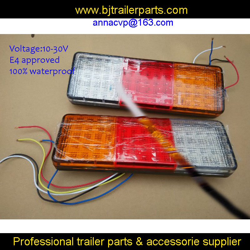 2X 10 30V LED trailer truck rear lights LED taillights trailer parts trailer lamps stop tail