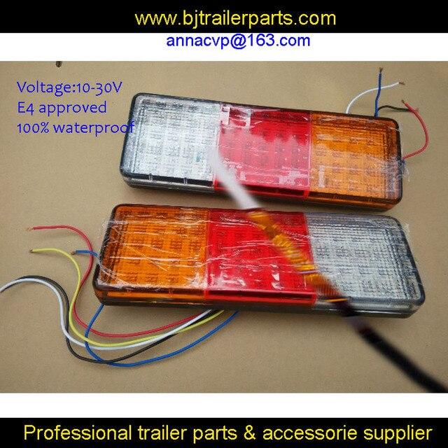2X 10 30 v LED anhänger truck hinten lichter LED rückleuchten ...