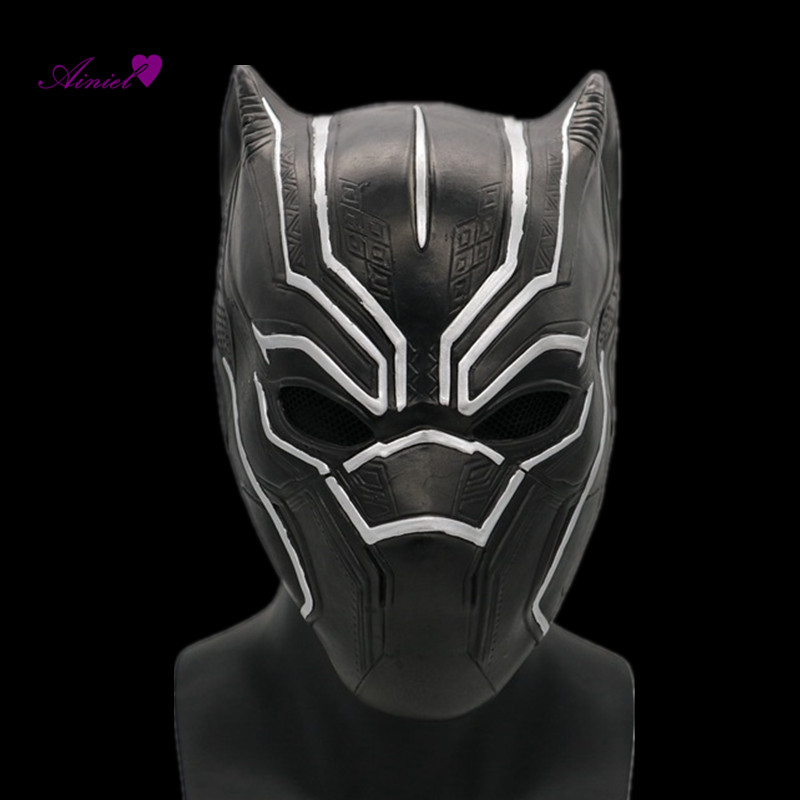 Ainiel Captain America Civil War Black Panther Masks Roles Cosplay Latex Helmet Halloween Realistic Adult Party Props Helmet
