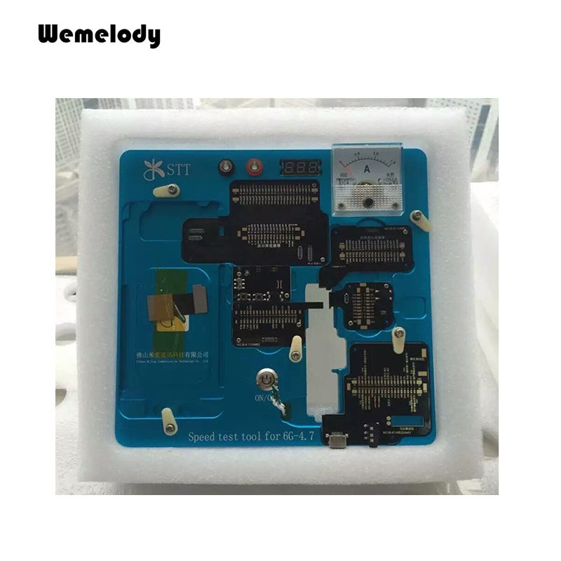 Professional maintenance staff use <font><b>mobile</b></font> <font><b>phone</b></font> repair tool test Mother Board touch screen camera vibration parts for iphone <font><b>6g</b></font>