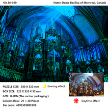 Tomax 500pcs glowing jigsaw puzzle Notre-Dame Basilica of Montreal, Canada The Statue Liberty Capital, Washington DC
