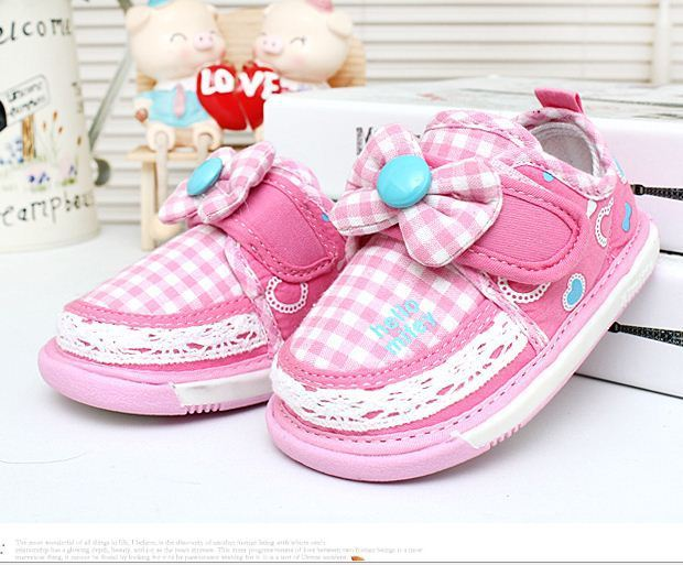 Baby Girls First Walker Shoes Kids Princess Shoes With Bow Children Breathable Soft Bottom Toddler Shoes Girls Shoes
