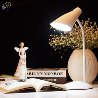 LED desk lamp foldable dimmable touch table lamp metal hose 360 degree rotation for children reading book