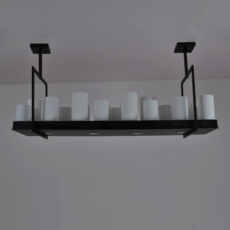 Factory Direct American Vintage Wrought Iron Bars, Hotels Villa Project Candle Chandelier MY029