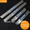 Free shipping LED Stainless Steel Door Sill Scuff Plate for Toyota Premio high quality