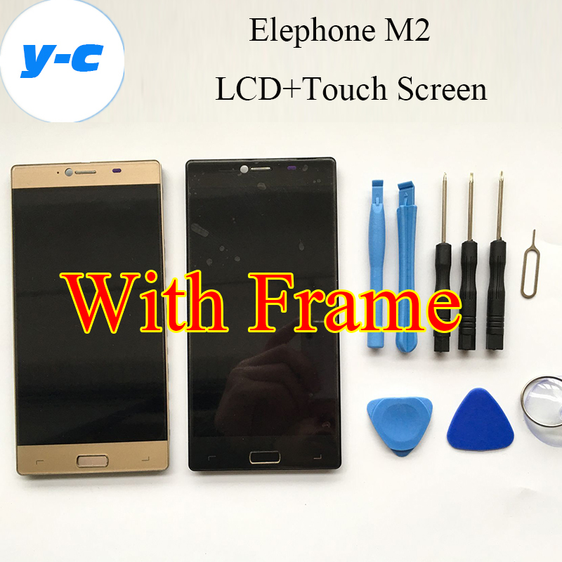 Elephone M2 LCD+Touch Screen With Frame 100% New Display Digitizer Glass Panel For Elephone M2 1920x1080 FHD 5.5 Phone