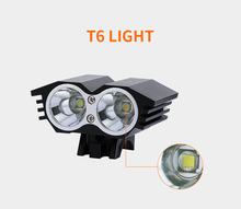 LED Bicycle Light 3000 Lumen Bike Front With Laser Rear Bright Accessories Headlight For