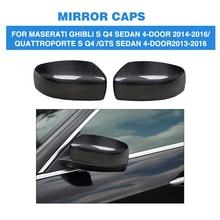 Carbon Fiber Rear View Mirror Covers Caps Car Sticker for Maserati Quattroporte Ghibli S Q4 GTS Sedan 4 Door 13-16 Add On Style