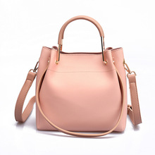Womens New Wild Bucket Bag Fashion Shoulder Large Capacity Female 2018 Tide