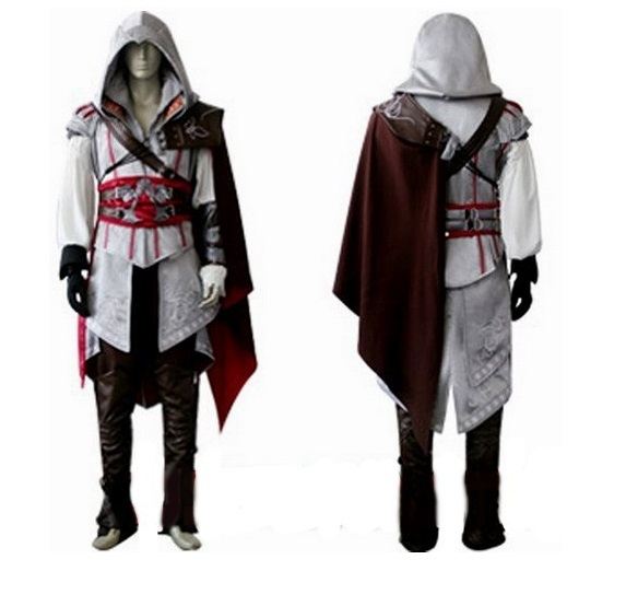 Halloween Costume Anime Athemis Assassin's Creed II Cosplay Costume Assassins Creed Ezio Costume clothes sets suit for men