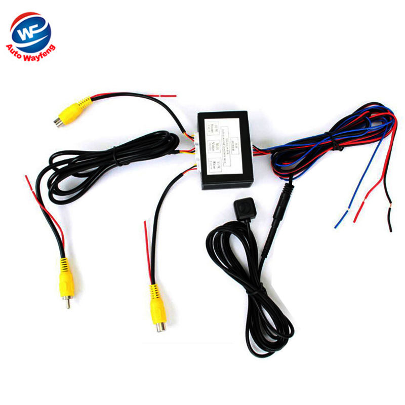 Car Parking font b Camera b font Video Channel Converter Auto Switch Front View Side Rearview