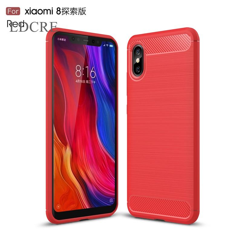 For Cover Xiaomi Mi 8 Explorer Case Silicone Rubber Soft Phone Case Cover for Xiaomi Mi 8 Explorer Case for Xiaomi Mi 8 Explorer