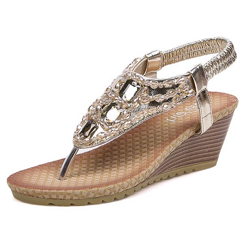Compare Prices On Silver Wedge Sandals- Online Shopping