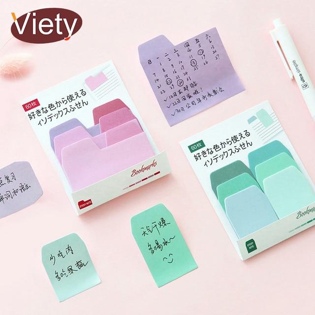 1 X Color Degradado Índice pegatina post it memo pad notas adhesivas de papel planificador papelería kawaii útiles escolares papeleria