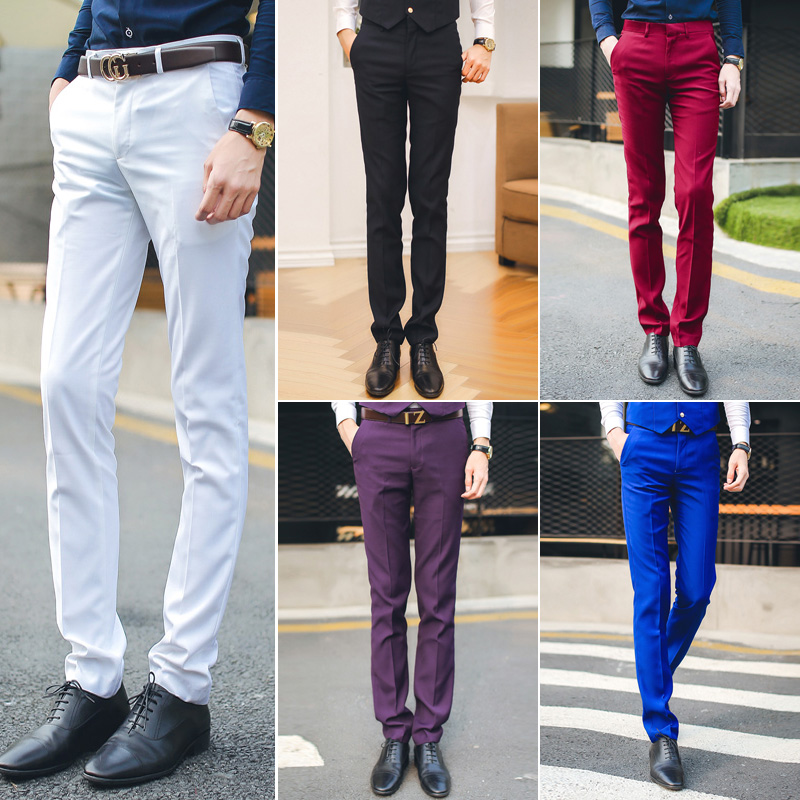0937b62d8fe free shipping British style 2016 men s suit pants Korean men slim fit  business casual pants for men wedding suits royal blue-in Casual Pants from  Men s ...