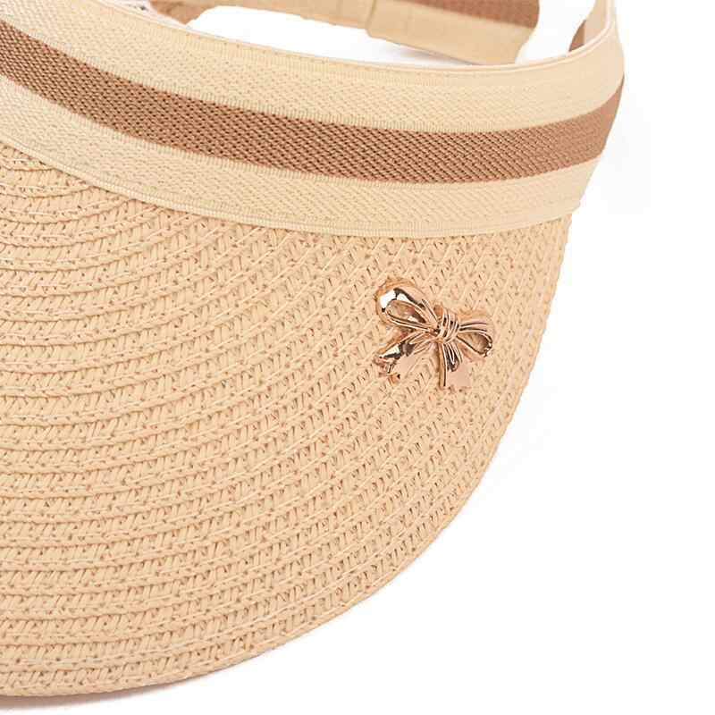 08920f7f ... Cute Bow Sun Hat Female Beach Hat Wide Brim Straw Visor Hat Cap Summer  Hats For ...