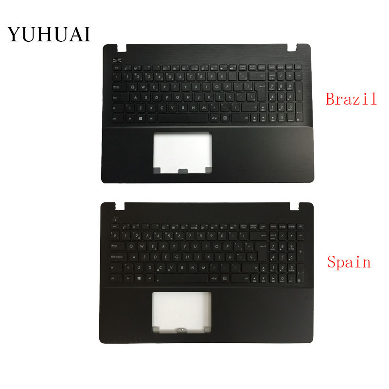New Brazil/Spanish Laptop <font><b>Keyboard</b></font> for <font><b>ASUS</b></font> <font><b>X550</b></font> K550V X550C X550VC X550J X550V A550L Y581C F550 R510L Palmrest <font><b>Cover</b></font> image