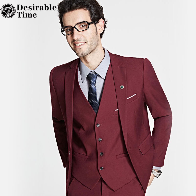 Desirable Time Slim Fit Wedding Suits With Pants Mens