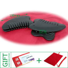 Good quality! Wholesale & Retail Black Bian Stone Massage Guasha Comb health care product (90x53mm) 20pieces/lot