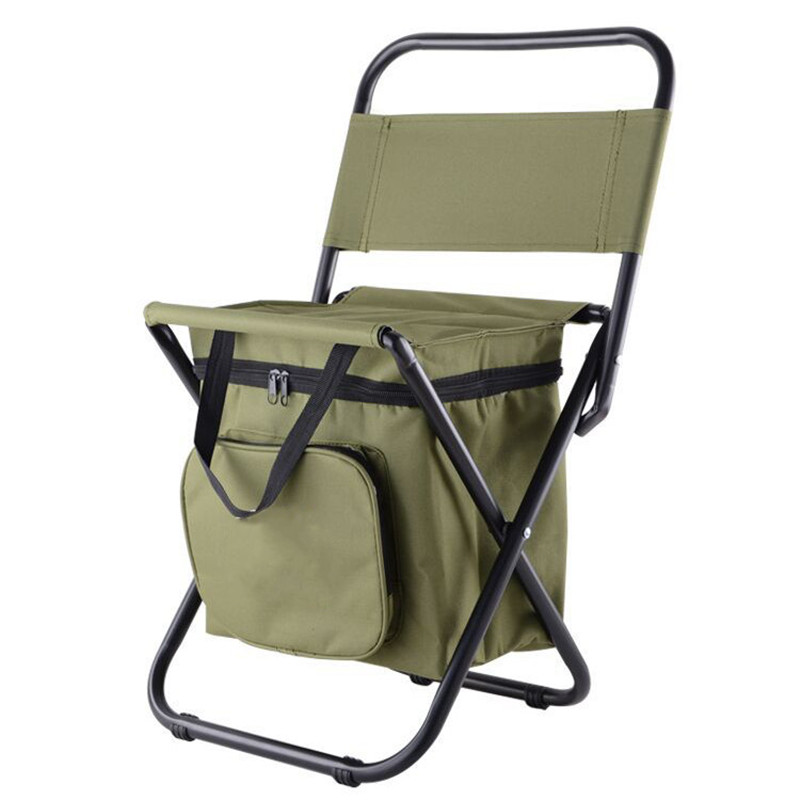 Portable Foldable 28 x 29 x 60cm Fishing Chair With Storage Cool Bag Polyester Chair Stool Steel Pipe Frame Outdoor Fishing Tool 80 5 x 40 x 40cm home foldable multifunctional storage stool folding stool holder organizer storage stool box black 22