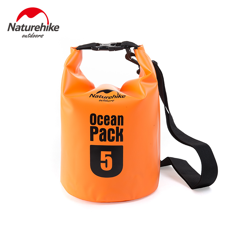 Naturehike Ultralight Waterproof Rafting Bag 4 Colors Outdoor Nylon Drifting Kayaking Compression Storage Swimming Bag 5L 10L