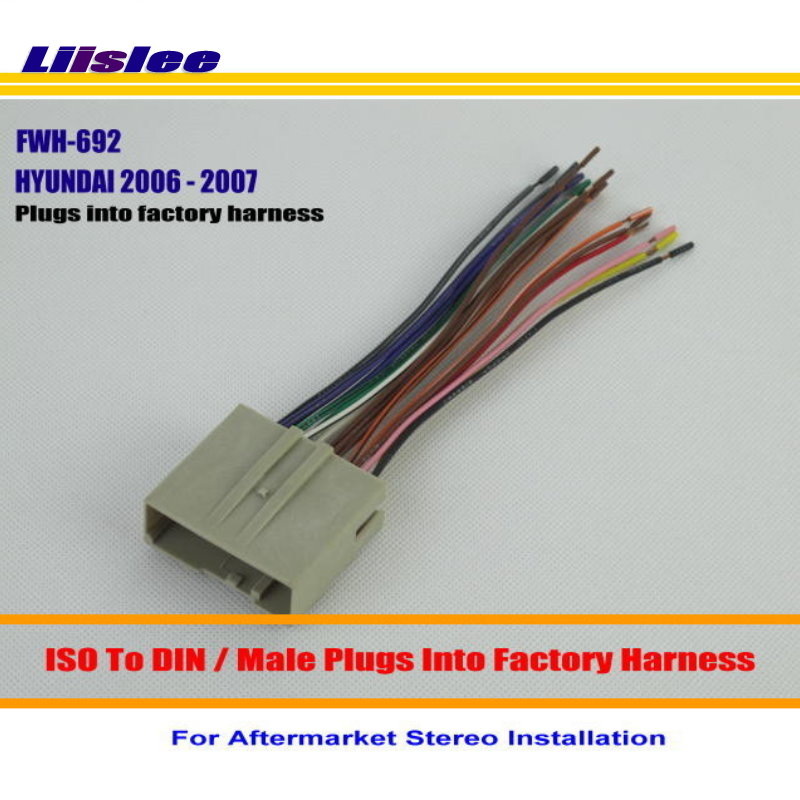 Liislee For Hyundai Sonata 2006 2007    Male Iso Radio Wire