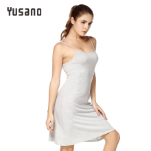 Yusano Women's Nightgown Cotton Sleep Dress Sexy Sleepwear Nightdress Sexy Lingerie Strap Sleepshirts Nightshirt Female Nightie