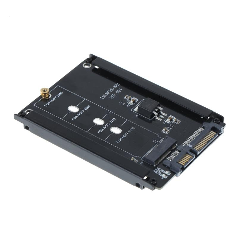 NEW Metal Case B Key M.2 NGFF SSD To 2.5 SATA 6Gb/s Power Connector Adapter Card Eith Enclosure Socket M2 NGFF Adapter