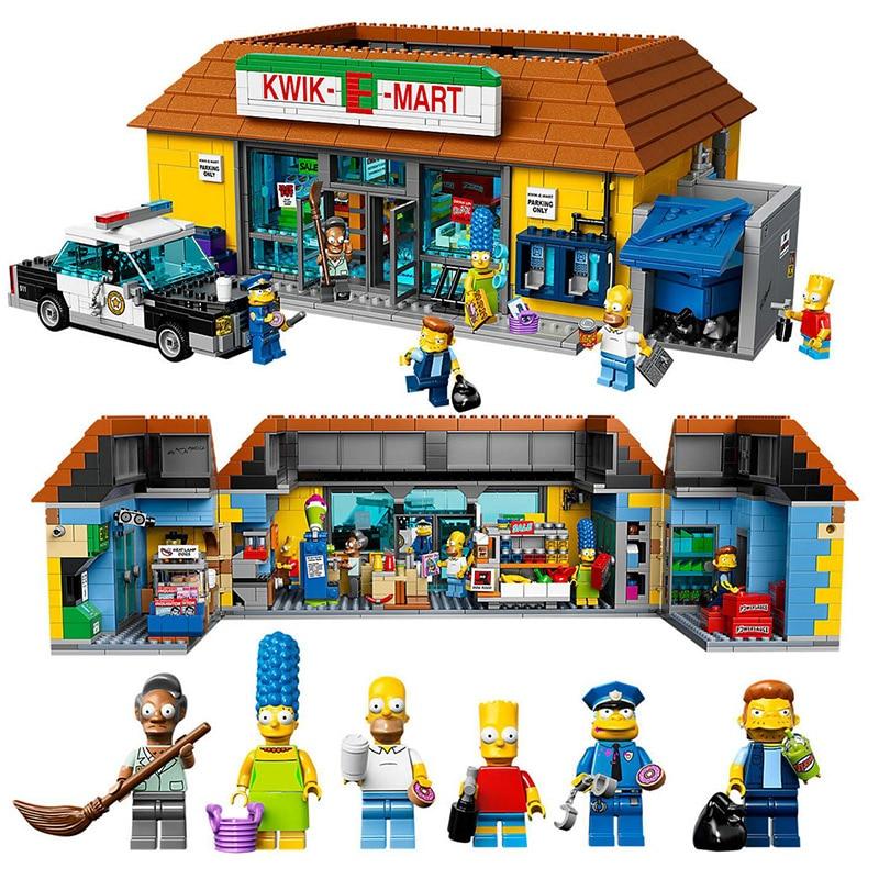 LEPIN 16004 Simpson Movie Series 71016 The Kwik-E-Mart Building Blocks 2232pcs Bricks Toys Gift For Children neue lepin 16004 2232 stucke die simpsons action modell baustein ziegel kompatibel 71016 fur kinder geschenk