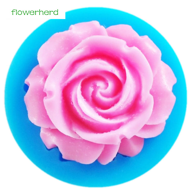 Mini 3D Rose Flower Shapes Silicone Mold Fondant Mold Sugarcraft Cake Decorating Baking Tools Surgar Soap Candle Mould