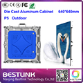 Открытый из светодиодов экран p5 открытый литой алюминиевый корпус 640 * 640 мм 1 / 8 s высокая яркость водонепроницаемый рекламный щит