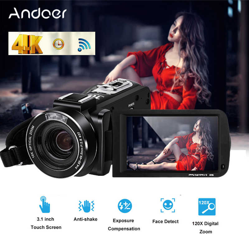 Ordro UHD 4k WIFI 24MP Digital Video Camera With 3.1'' Touch Display Wifi Digital Video Camcorder Professional Photography Cam