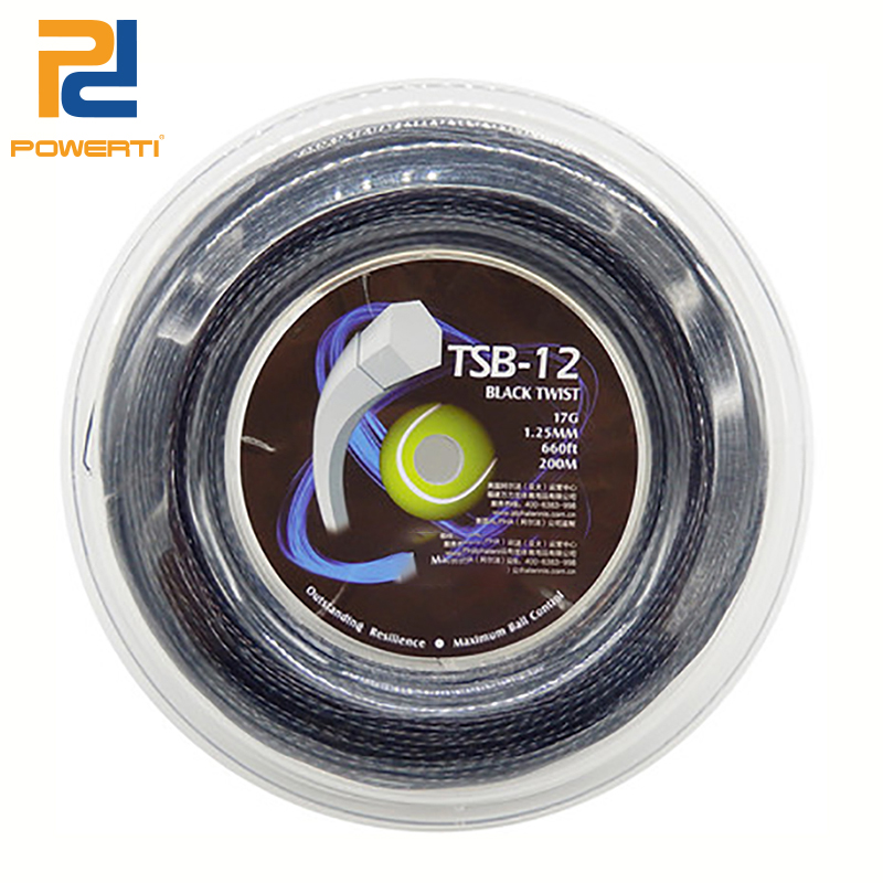 Powerti 1.25mm Hexagonal Twister Tennis String 200m Reel Durable Polyester Training String TSB-12 powerti hexagonal polyester tennis string 200m reel string durable 1 25mm tennis racket tennis racquet tsb10