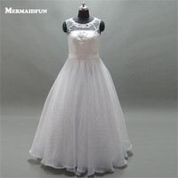 2017 Ball Gown See Through Back Scoop Neckline Tulle Wedding Dresses Custom Made Robe De Marriage