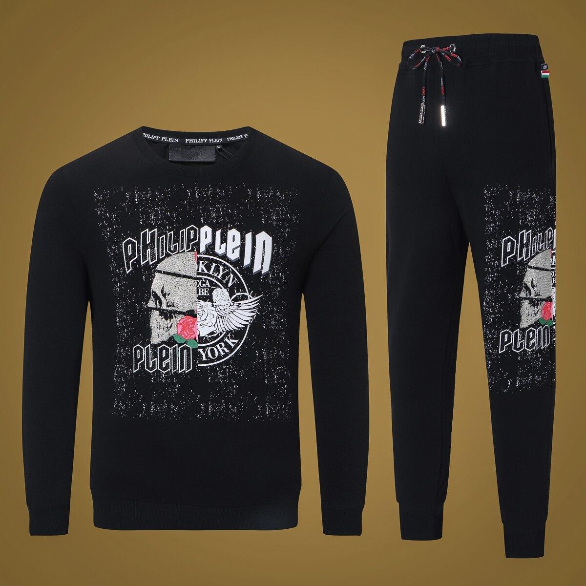 Marque crâne hommes ensembles Sportswear Swetpants 2019 printemps été homme vêtements vêtements de sport décontractés survêtements sweat hommes costumes