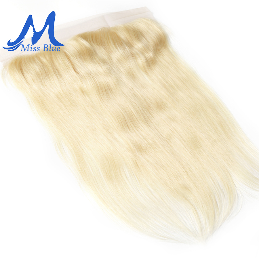 Missblue 13x4 Lace Frontal Closure With Baby Hair Straight Color 613 Blonde Brazilian Ear To Ear Remy Human Hair Lace Closure