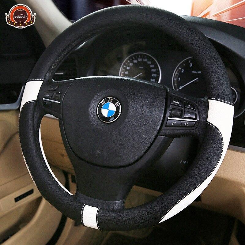 2018 Sport En Cuir couverture de volant de voiture de voiture-style protection de L'environnement Pas malodorante Diamètre 38 cm 4 couleur freeshipping